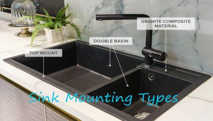 Sink-Mounting-Types, kitchen sink, bathroom sink installation options