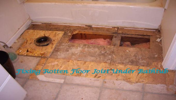 Fixing-rotten-floor-joists-under-bathtub