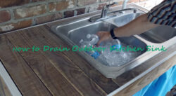 How to Drain Outdoor Kitchen Sink
